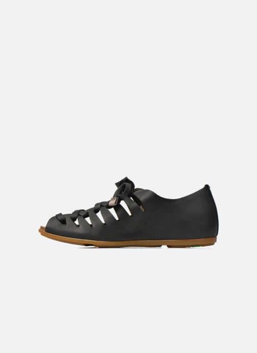 Lace-up shoes El Naturalista Stella ND52 Black front view