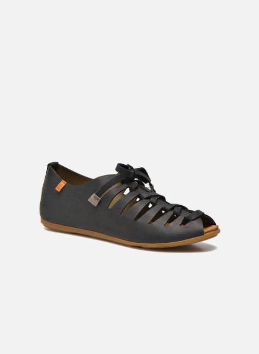 Lace-up shoes El Naturalista Stella ND52 Black detailed view/ Pair view