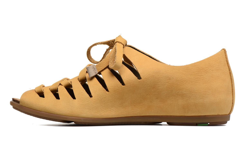 Zapatos con cordones El Naturalista Stella ND52 Amarillo vista de frente