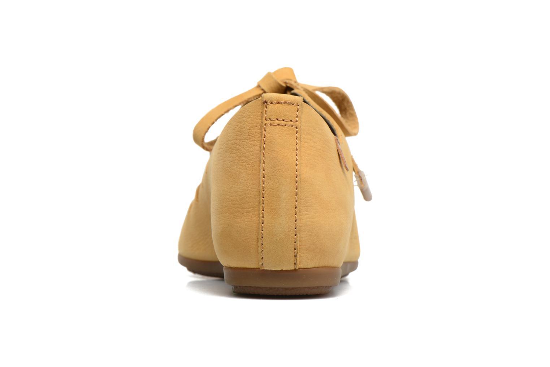 Zapatos con cordones El Naturalista Stella ND52 Amarillo vista lateral derecha