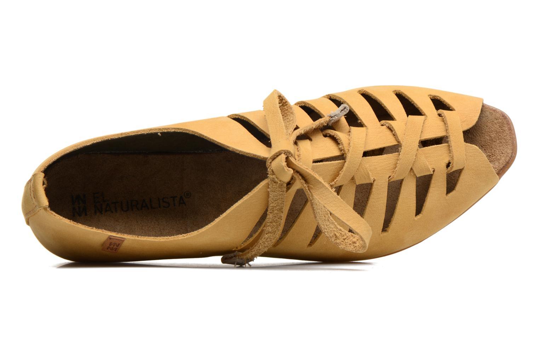 Zapatos con cordones El Naturalista Stella ND52 Amarillo vista lateral izquierda