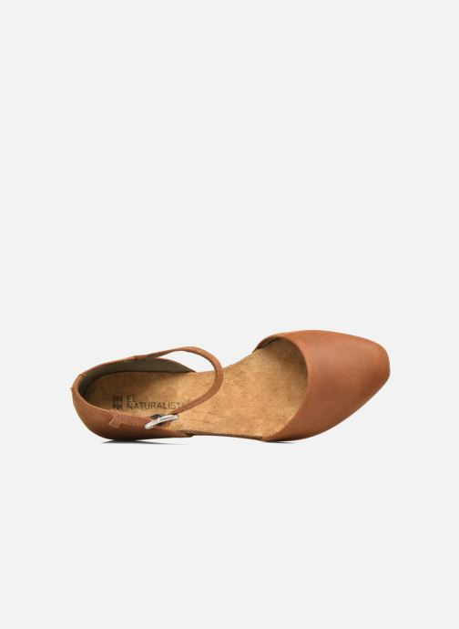 Ballet pumps El Naturalista Stella ND54 Brown view from the left