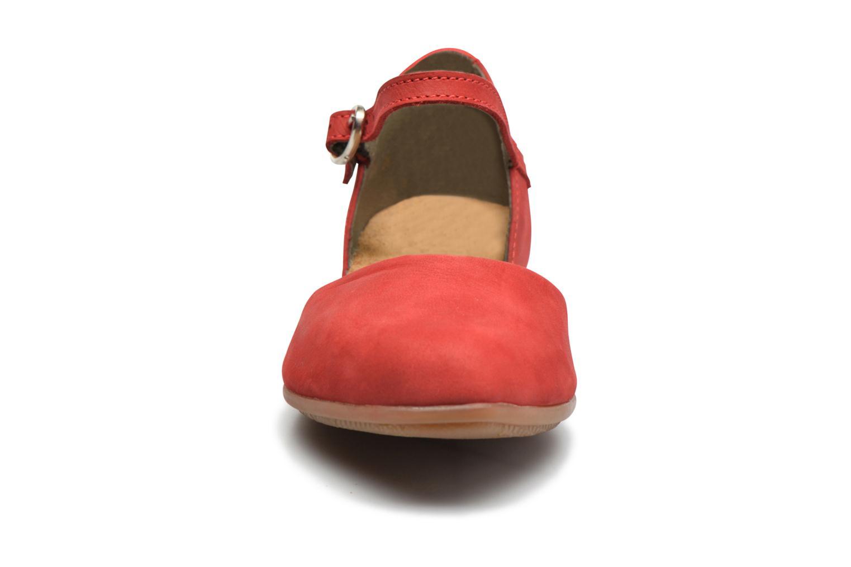 Ballerines El Naturalista Stella ND54 Rouge vue portées chaussures
