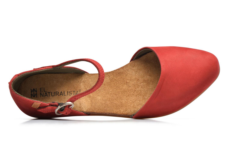 Ballerines El Naturalista Stella ND54 Rouge vue gauche