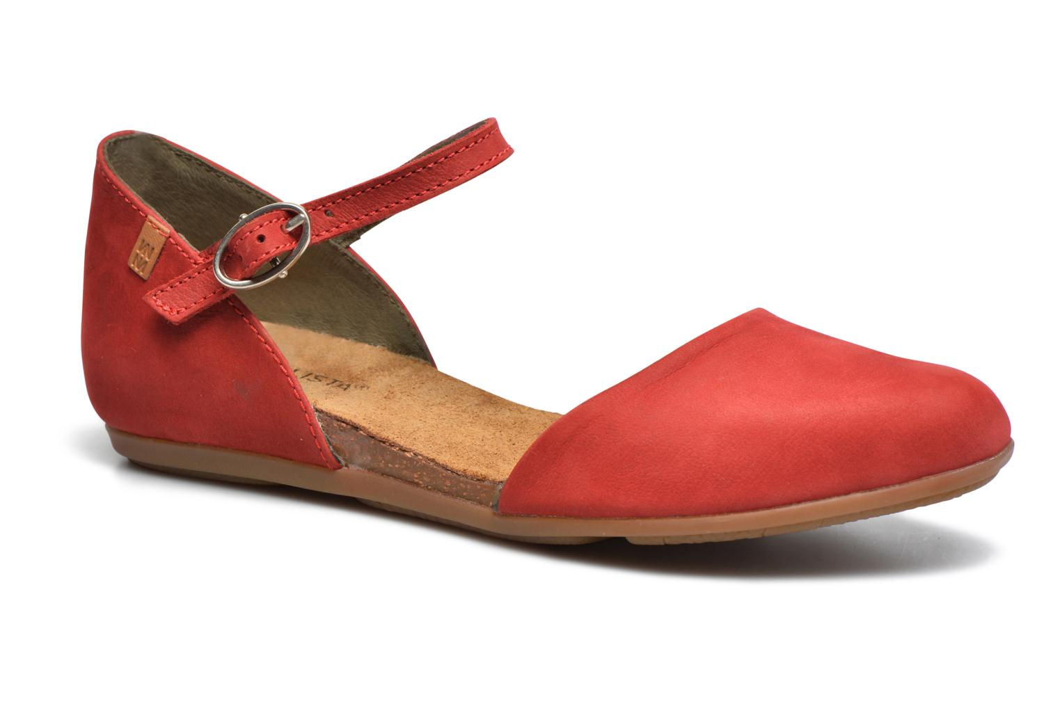 Ballet pumps El Naturalista Stella ND54 Red detailed view/ Pair view