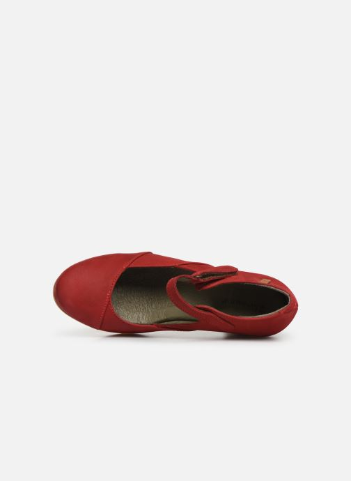 High heels El Naturalista Espiral N588 Red view from the left