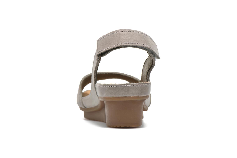 Sandales et nu-pieds El Naturalista Code ND25 Gris vue droite