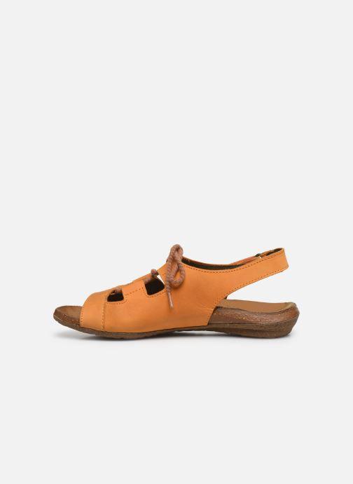 Sandales et nu-pieds El Naturalista Wakataua ND73 Orange vue face