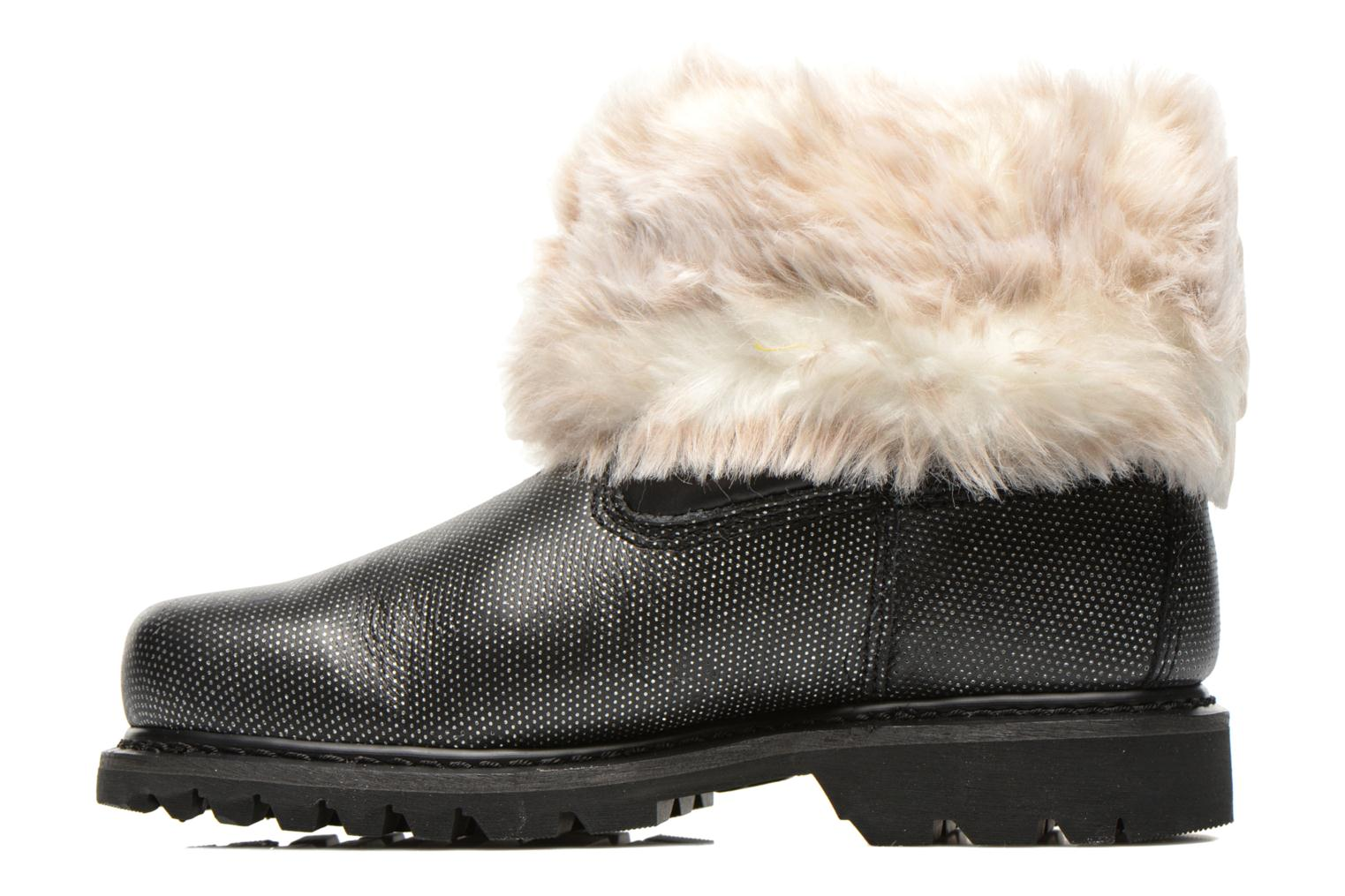 Bottines et boots Caterpillar Bruiser Scrunch Fur Noir vue face
