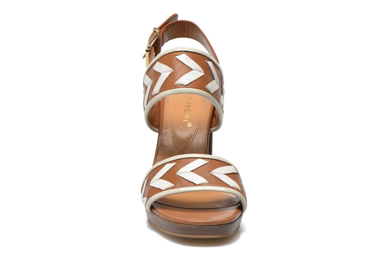Sandales et nu-pieds Bruno Premi Laly Marron vue portées chaussures