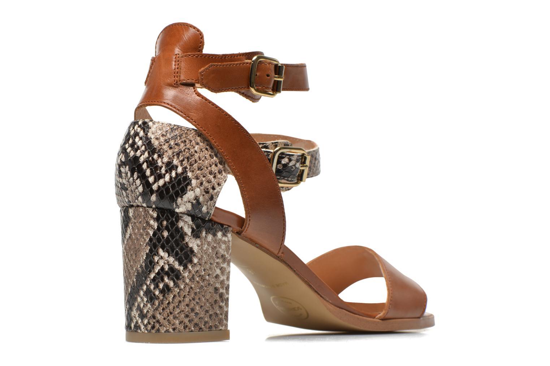Sandales et nu-pieds Made by SARENZA Discow Girl #3 Marron vue portées chaussures