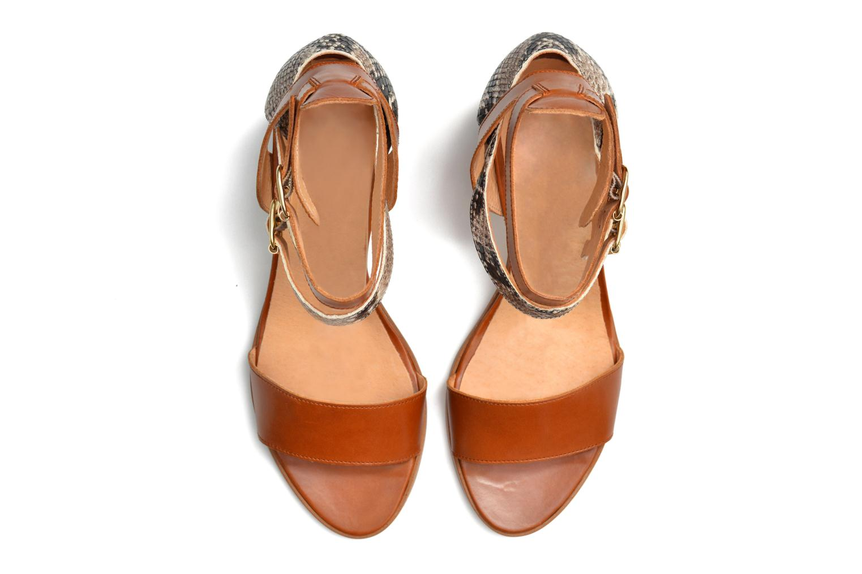 Sandales et nu-pieds Made by SARENZA Discow Girl #3 Marron vue haut