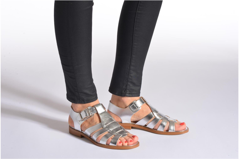 Sandales et nu-pieds Made by SARENZA Menthe Hello #1 Argent vue bas / vue portée sac