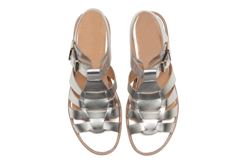 Sandales et nu-pieds Made by SARENZA Menthe Hello #1 Argent vue portées chaussures