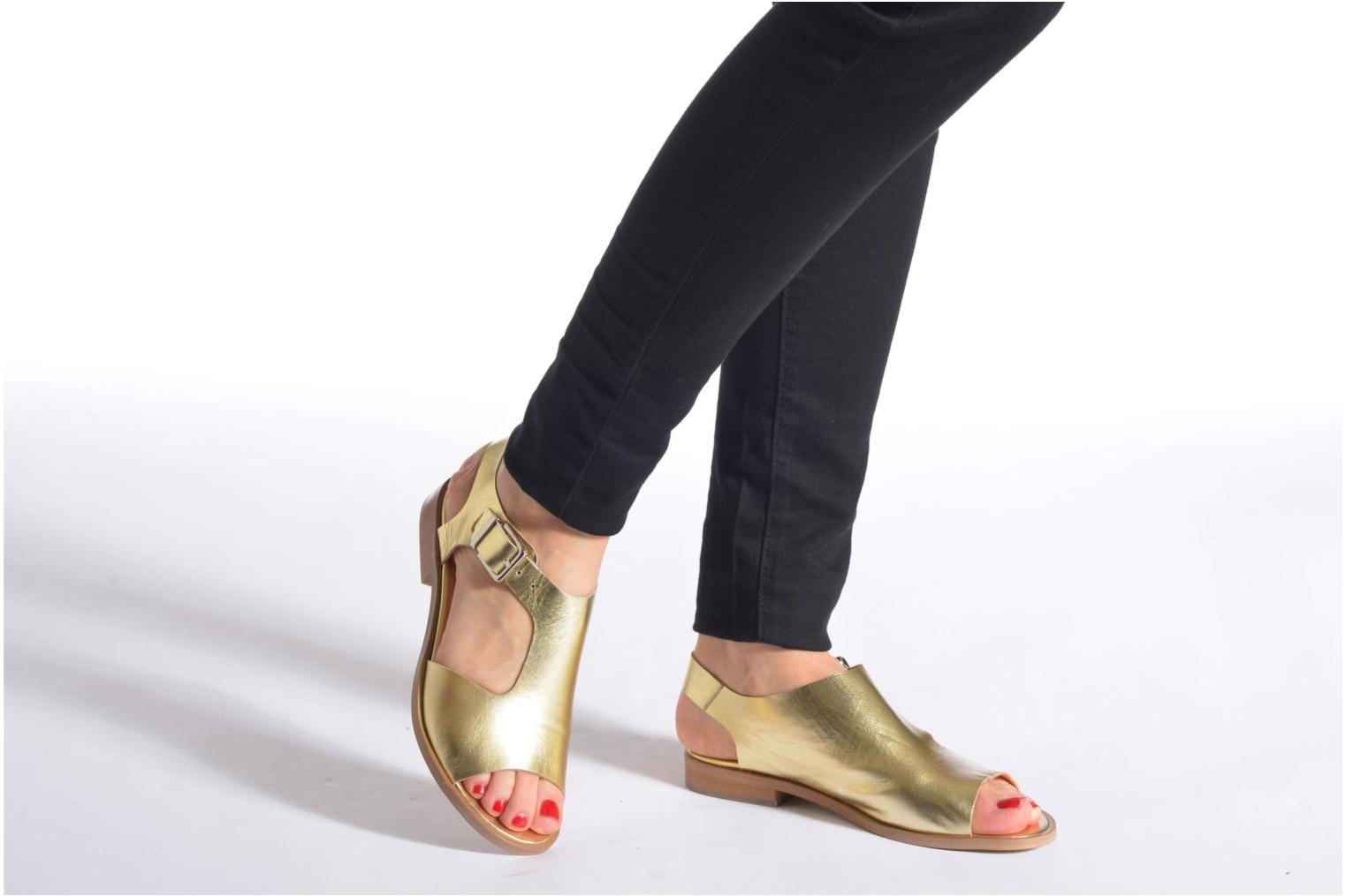 Sandals Made by SARENZA Menthe Hello #13 Bronze and Gold view from underneath / model view
