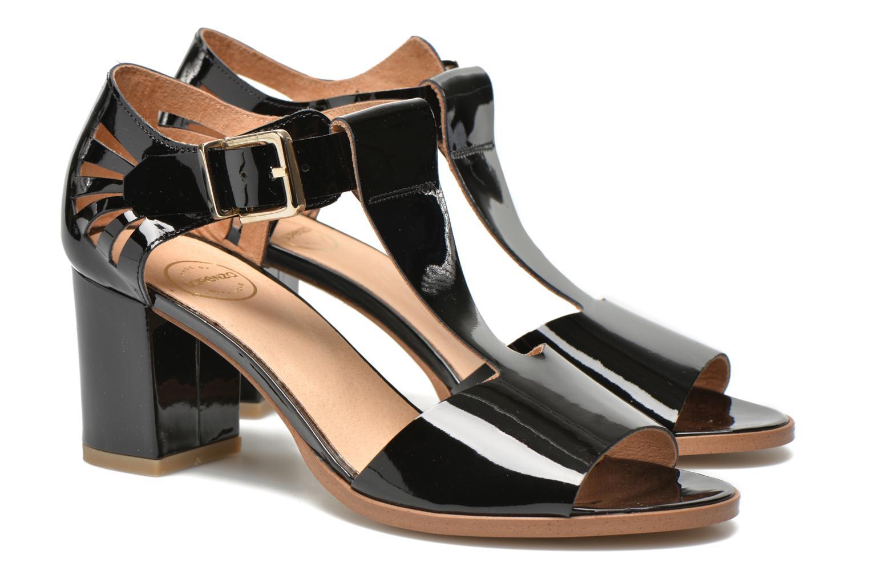 Sandales et nu-pieds Made by SARENZA Square Simone#4 Noir vue droite