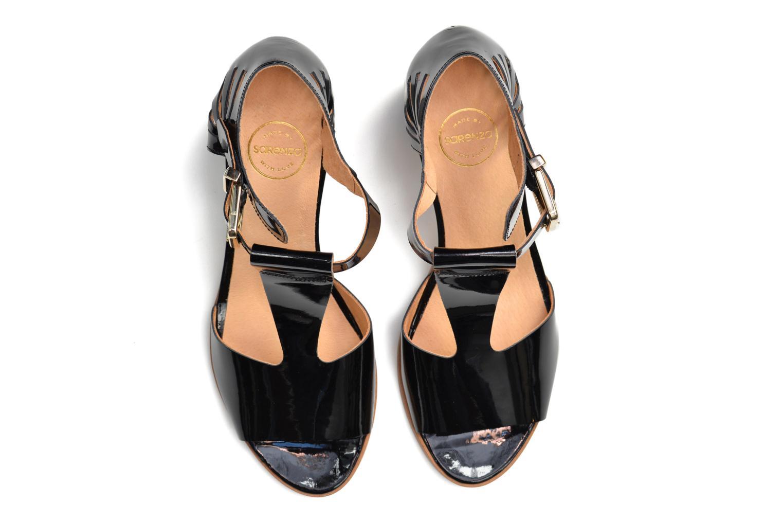 Sandales et nu-pieds Made by SARENZA Square Simone#4 Noir vue haut