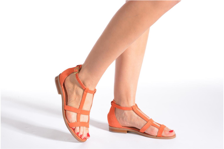 Sandales et nu-pieds Made by SARENZA Square Simone#6 Orange vue bas / vue portée sac