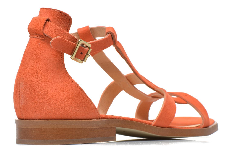Sandales et nu-pieds Made by SARENZA Square Simone#6 Orange vue portées chaussures