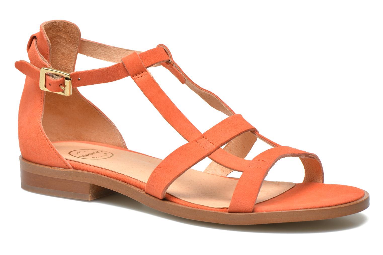 Sandales et nu-pieds Made by SARENZA Square Simone#6 Orange vue face