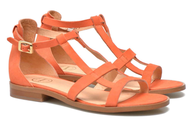 Sandales et nu-pieds Made by SARENZA Square Simone#6 Orange vue droite