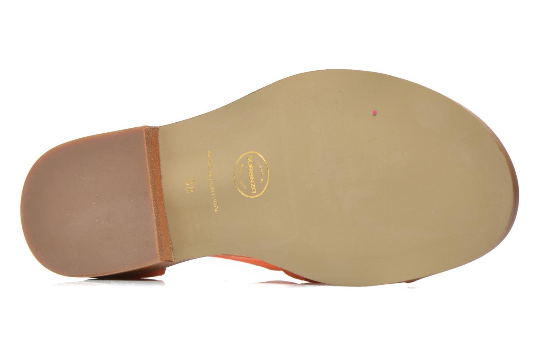 Sandales et nu-pieds Made by SARENZA Square Simone#6 Orange vue gauche