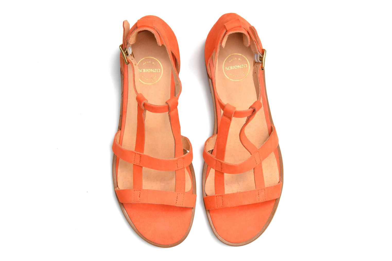Sandales et nu-pieds Made by SARENZA Square Simone#6 Orange vue haut
