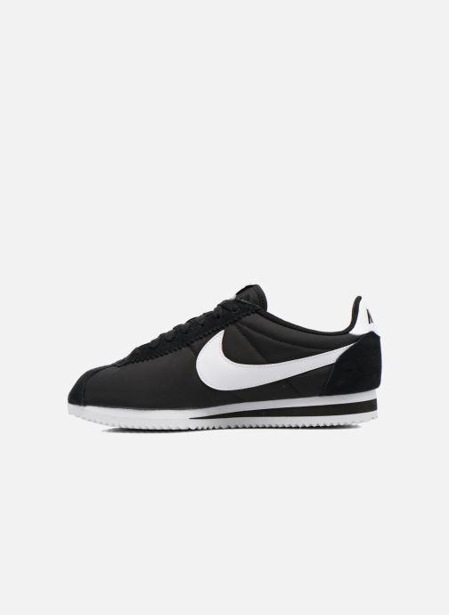 Deportivas Nike Classic Cortez Nylon Negro vista de frente