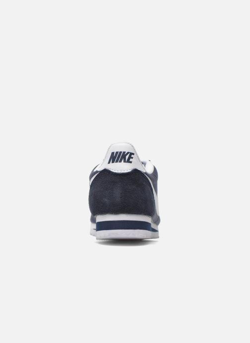 Deportivas Nike Classic Cortez Nylon Azul vista lateral derecha