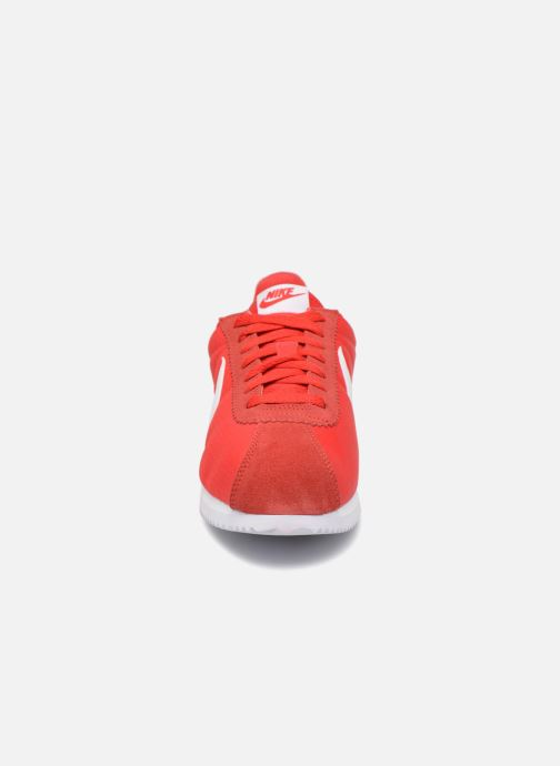 Sneaker Nike Classic Cortez Nylon rot schuhe getragen