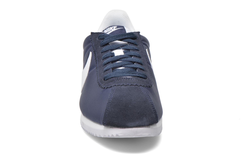 Baskets Nike Classic Cortez Nylon Bleu vue portées chaussures