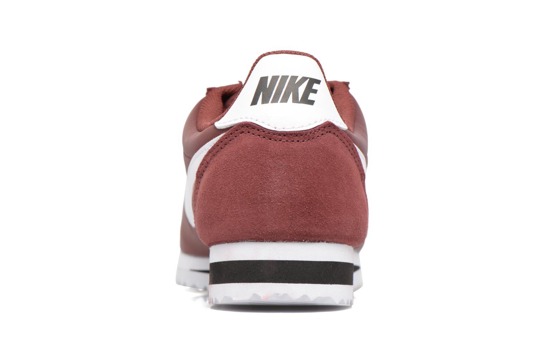 Deportivas Nike Classic Cortez Nylon Vino vista lateral derecha