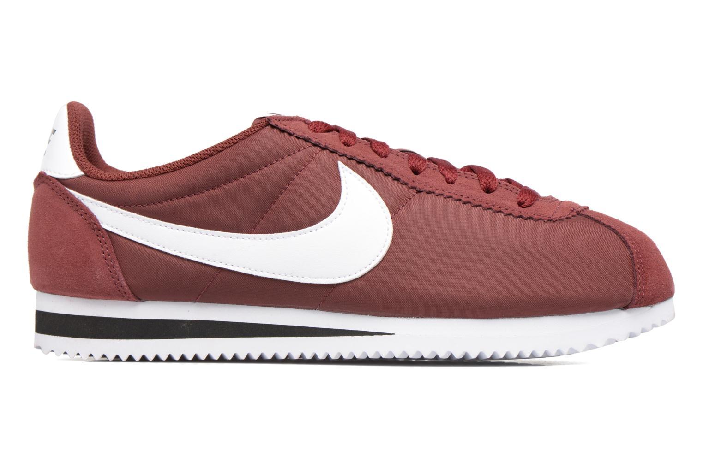 Deportivas Nike Classic Cortez Nylon Vino vistra trasera