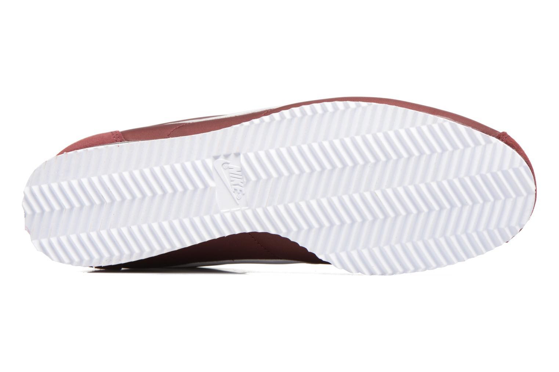 Deportivas Nike Classic Cortez Nylon Vino vista de arriba
