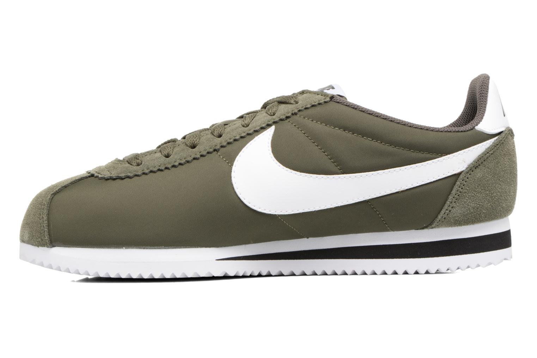 Deportivas Nike Classic Cortez Nylon Verde vista de frente