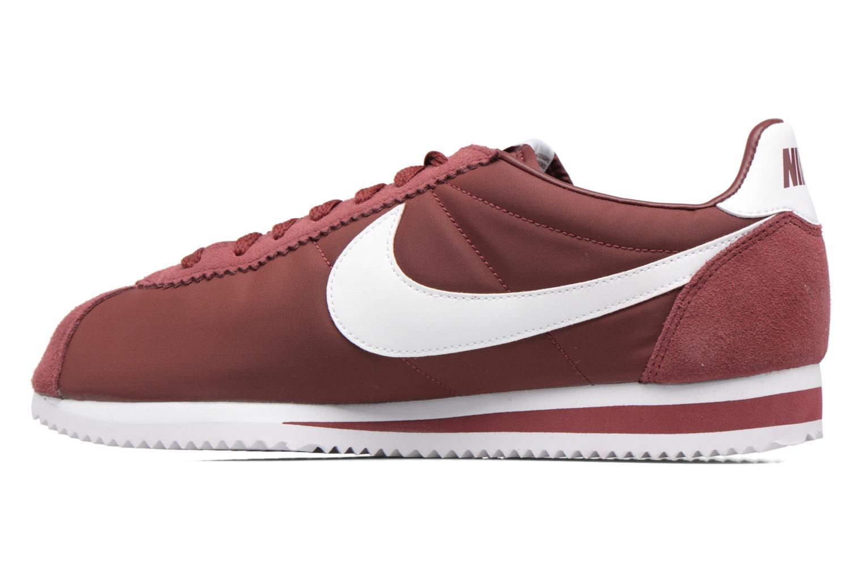 Deportivas Nike Classic Cortez Nylon Vino vista de frente