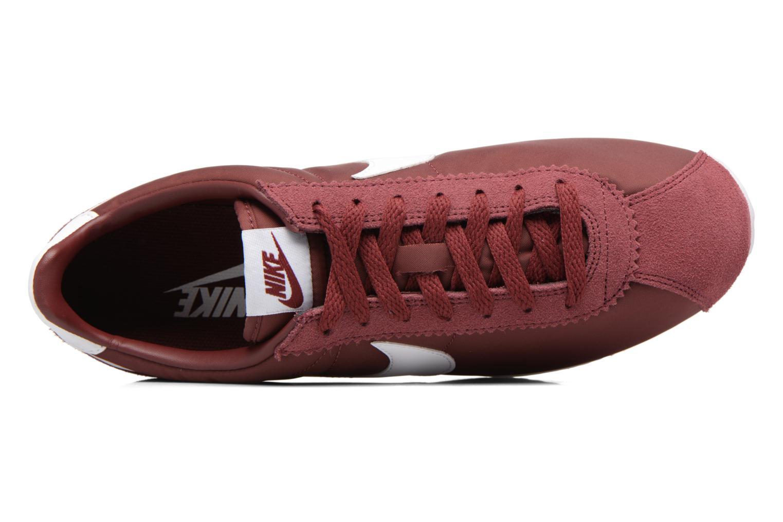 Deportivas Nike Classic Cortez Nylon Vino vista lateral izquierda