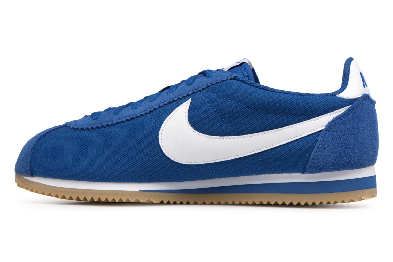 Deportivas Nike Classic Cortez Nylon Azul vista de frente