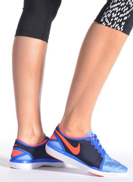 Chaussures de sport Nike Wmns Nike Lunar Sculpt Gris vue bas / vue portée sac