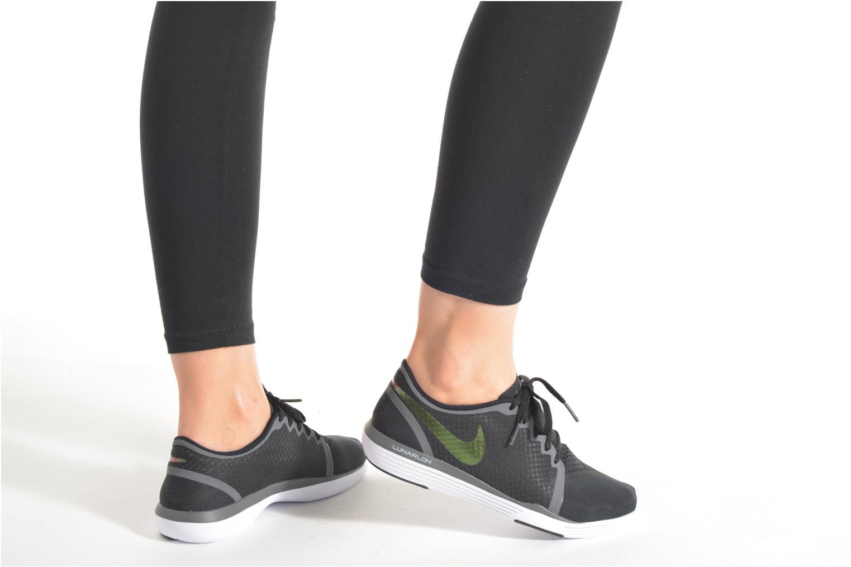 Chaussures de sport Nike Wmns Nike Lunar Sculpt Noir vue bas / vue portée sac