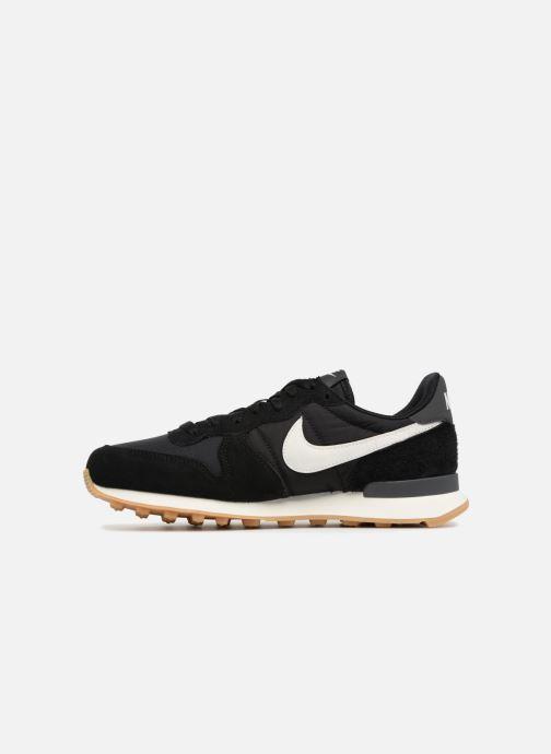 Sneaker Nike Wmns Internationalist schwarz ansicht von vorne