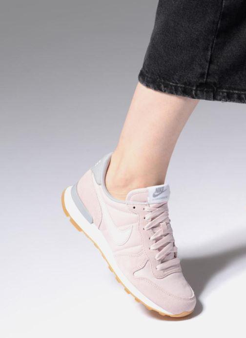 Baskets Nike Wmns Internationalist Rose vue bas / vue portée sac