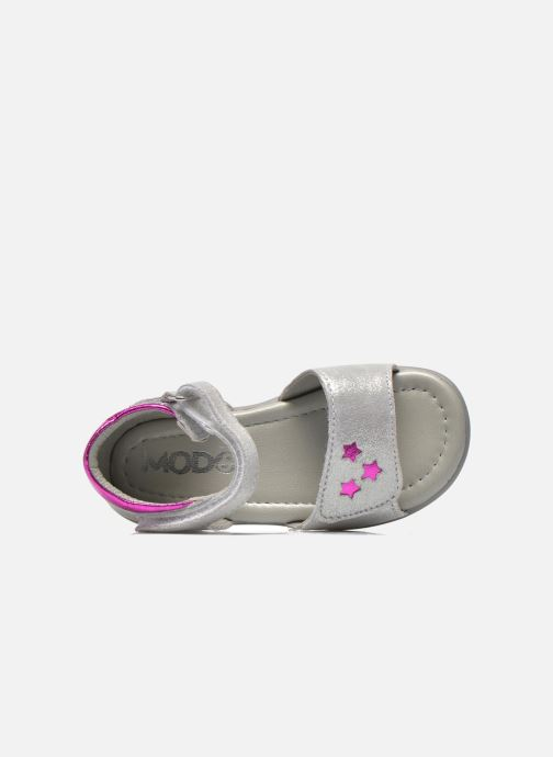 Sandals Mod8 Garance Silver view from the left