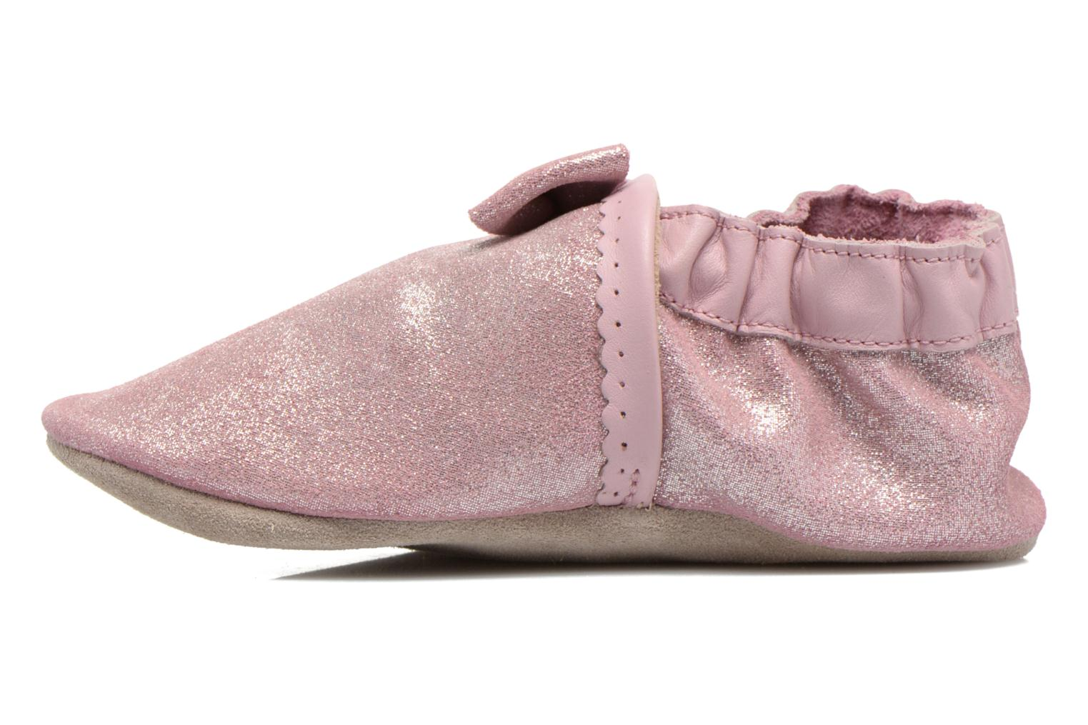 Chaussons Robeez Tender Knot Rose vue face