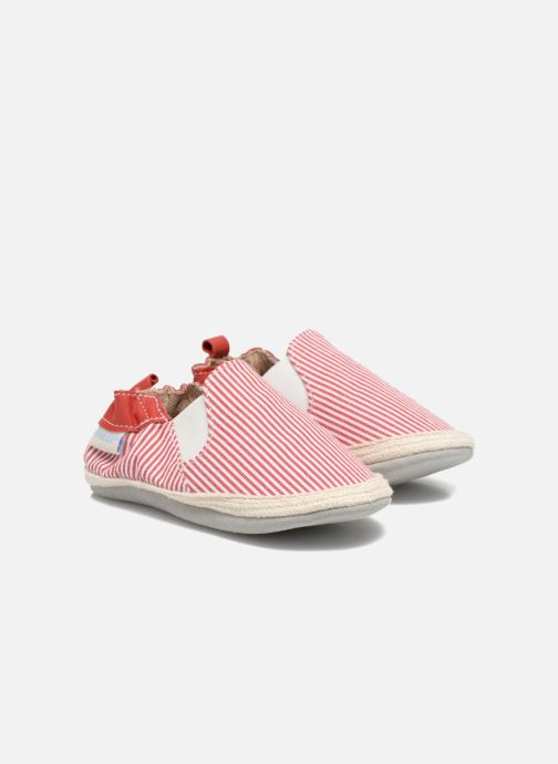Slippers Robeez Summer Camp Red detailed view/ Pair view