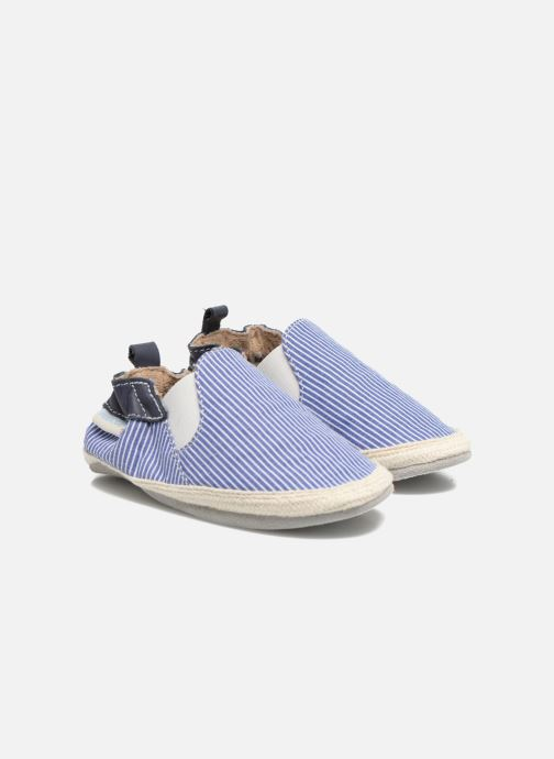 Slippers Robeez Summer Camp Blue detailed view/ Pair view