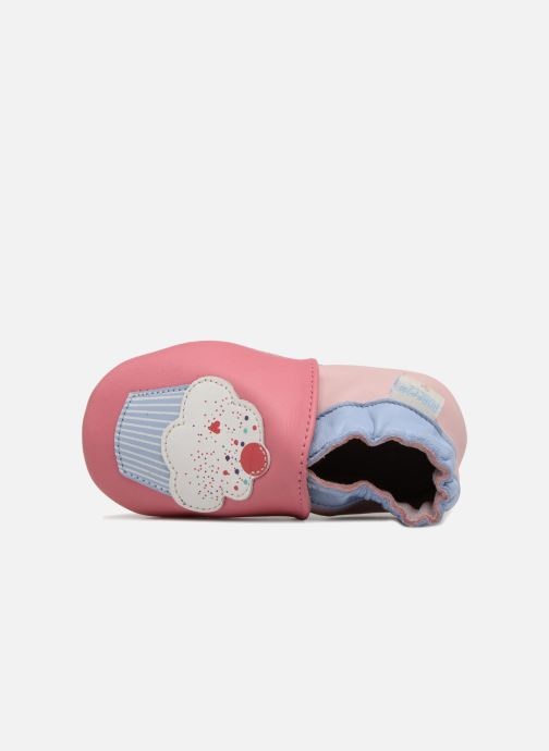 Chaussons Robeez Cupe Cake Rose vue gauche