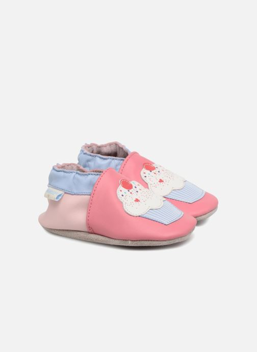 Chaussons Robeez Cupe Cake Rose vue détail/paire