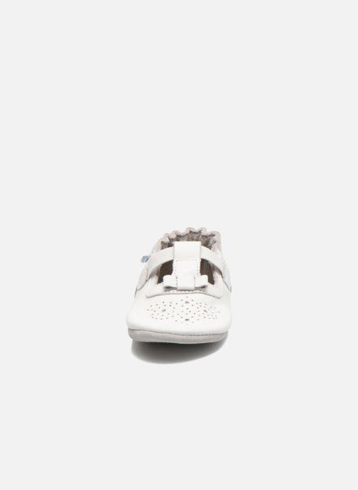 Pantofole Robeez Pretty Girl Bianco modello indossato