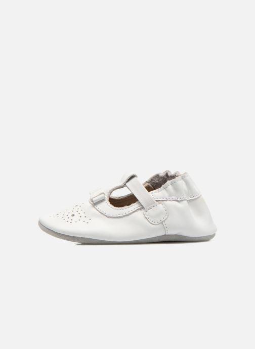 Pantofole Robeez Pretty Girl Bianco immagine frontale